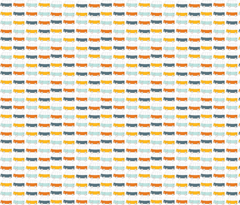 Buses fabric by els_vlieger_illustrations on Spoonflower - custom fabric