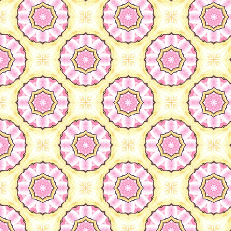 Candy Skies - Roses and Cream fabric by siya on Spoonflower - custom fabric