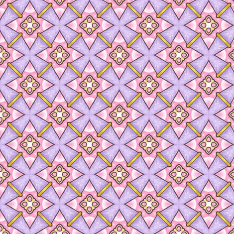 Candy Skies - Pink Diamonds fabric by siya on Spoonflower - custom fabric