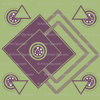 geometric_intricate_ purple,green, white