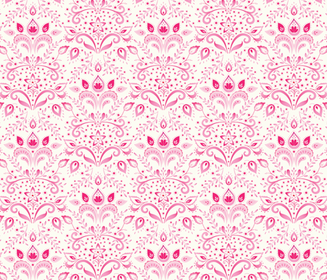 Bohemian Damask fabric by kayajoy on Spoonflower - custom fabric