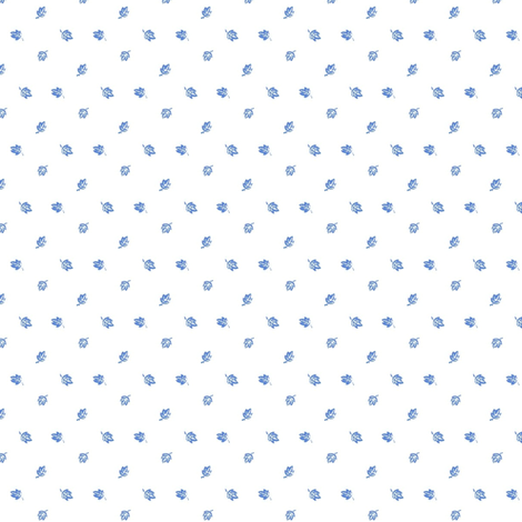Tiny Blue Leaves fabric by the_cornish_crone on Spoonflower - custom fabric
