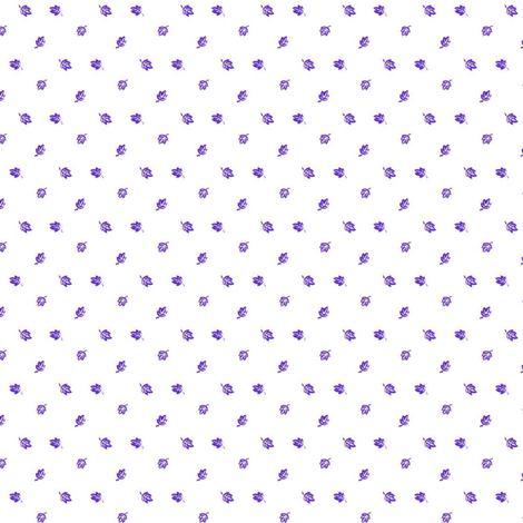 Tiny Purple Leaves fabric by the_cornish_crone on Spoonflower - custom fabric
