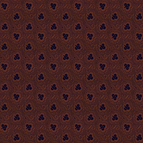 Black Clover Calico fabric by the_cornish_crone on Spoonflower - custom fabric