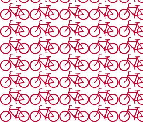 bicycle symbol red ride on white fabric by luluhoo on Spoonflower - custom fabric