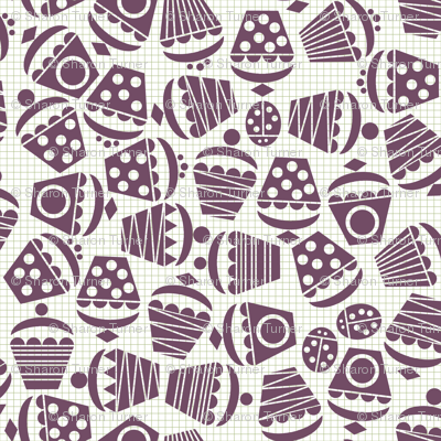 geometric cupcake ditsy