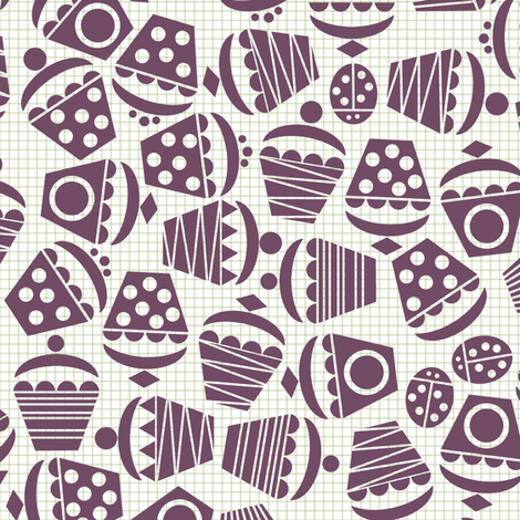 geometric cupcake ditsy fabric by scrummy on Spoonflower - custom fabric