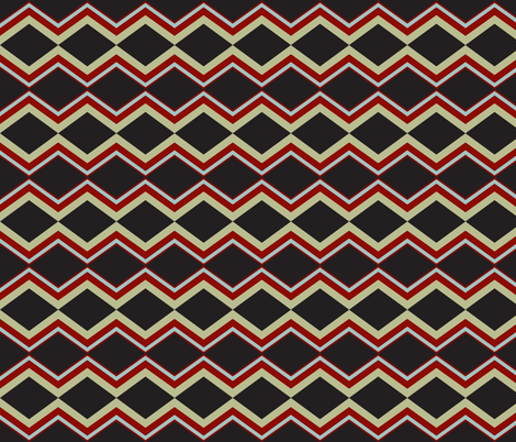 stripes angled with red fabric by luluhoo on Spoonflower - custom fabric