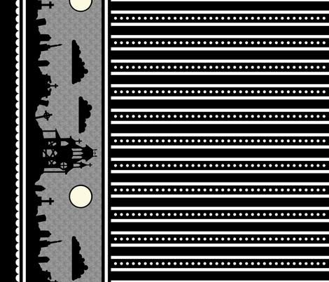 Graveyard Dot-Striped Border in Black
