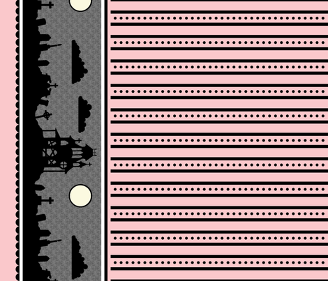 Graveyard Dot-Striped Border in Pink