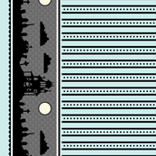 Graveyard Dot-Striped Border in Mint
