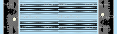 Graveyard Dot-Striped Border in Light Blue