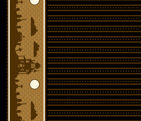 Graveyard Dot-Striped Border in Coffee