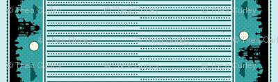 Graveyard Dot-Striped Border in Teal-Mint