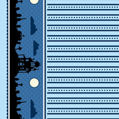 Graveyard Dot-Striped Border in Blueberry