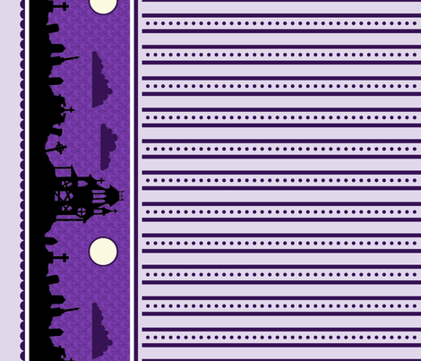 Graveyard Dot-Striped Border in Grape fabric by charmcitycurios on Spoonflower - custom fabric