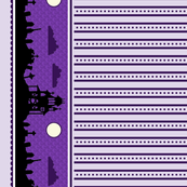 Graveyard Dot-Striped Border in Grape