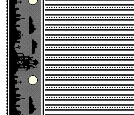 Graveyard Dot-Striped Border in White