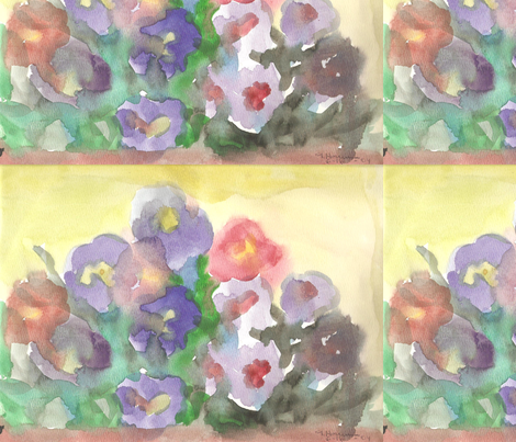 garden_flowers_001 fabric by creativeart2 on Spoonflower - custom fabric