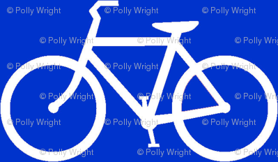 bicycle symbol white ride on navy