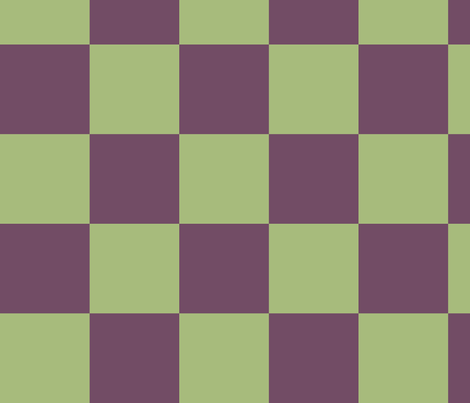 Yellow-Green and Aubergine Checkerboard