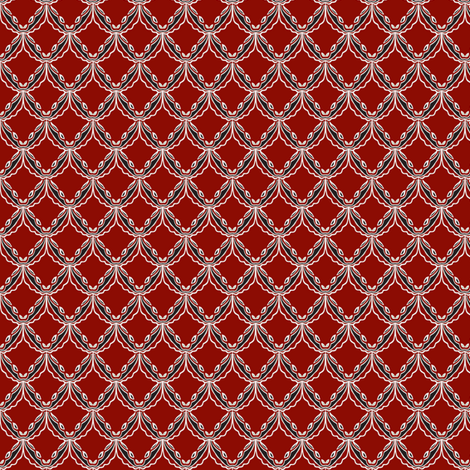 lacey red and black` fabric by luluhoo on Spoonflower - custom fabric