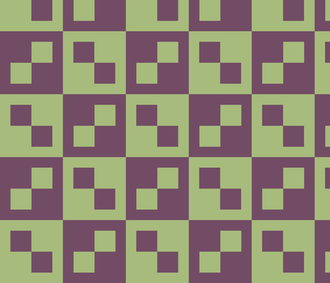 Pistachio and Purple Check fabric by pd_frasure on Spoonflower - custom fabric