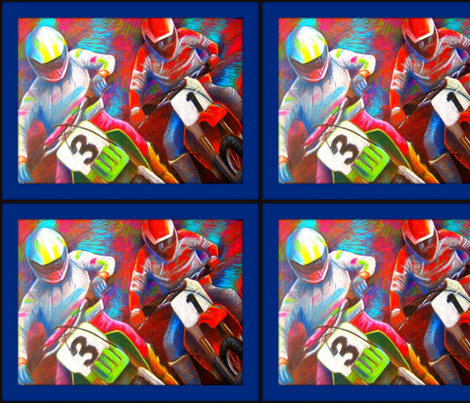 80's Motocross Race fabric by winoart on Spoonflower - custom fabric