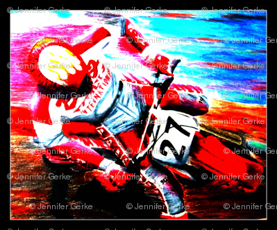 Dirt Bike Motocross Tile