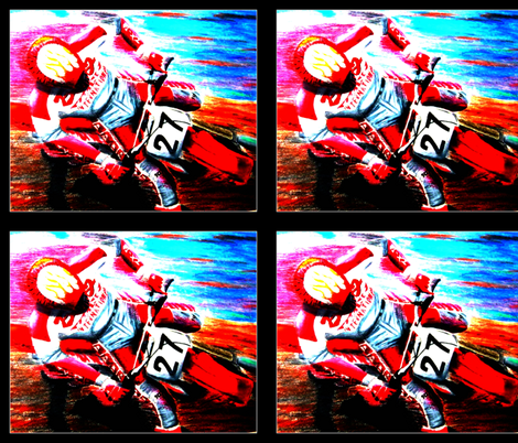 Dirt Bike Motocross Tile fabric by winoart on Spoonflower - custom fabric