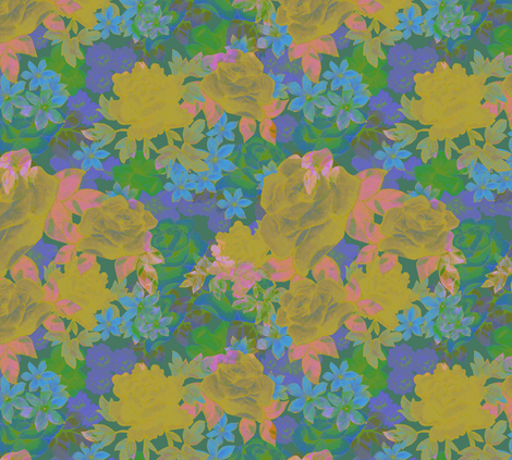 floral fabric by aimeesthill on Spoonflower - custom fabric