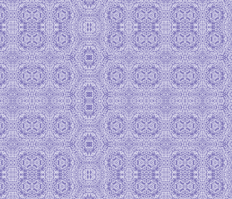Periwinkle Wisteria Lace fabric by wren_leyland on Spoonflower - custom fabric