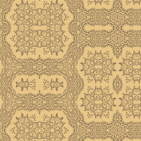 Pale Peach Gray Lace fabric by wren_leyland on Spoonflower - custom fabric