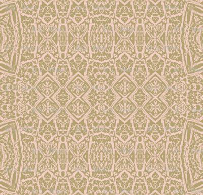 Pink beige tan lacework