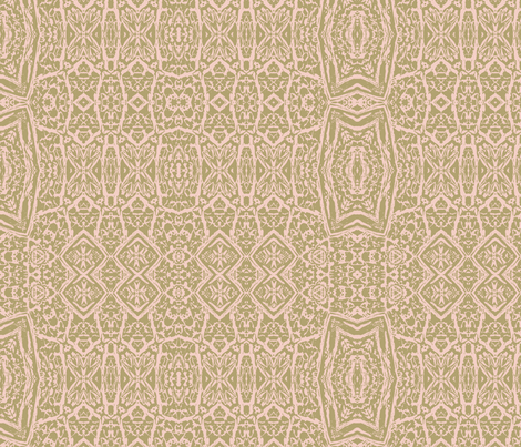 Pink beige tan lacework fabric by wren_leyland on Spoonflower - custom fabric
