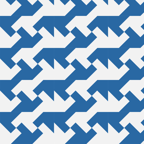 Nintendo Blue fabric by guapa on Spoonflower - custom fabric