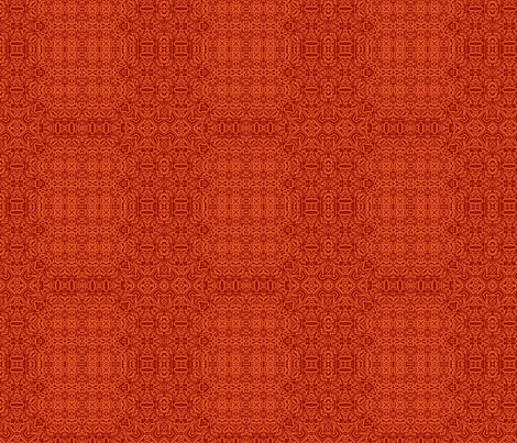 Coral orange and deep red lace fabric by wren_leyland on Spoonflower - custom fabric
