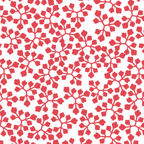 08_leaves_raspberry fabric by guapa on Spoonflower - custom fabric