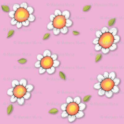 Daisy Joy on Pink
