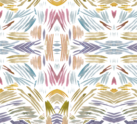 cestlaviv_shell_stripes and ridges fabric by cest_la_viv on Spoonflower - custom fabric