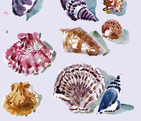 cestlaviv_shells fabric by cest_la_viv on Spoonflower - custom fabric