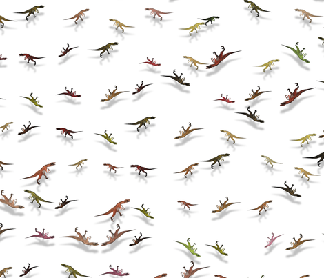 The Raptors Dance fabric by animotaxis on Spoonflower - custom fabric