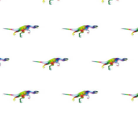Psychedelic Raptor, M fabric by animotaxis on Spoonflower - custom fabric