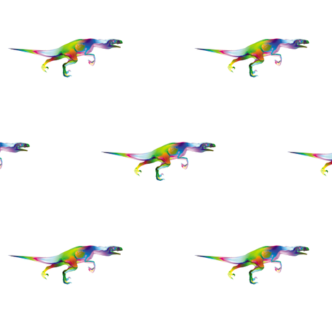 Psychedelic Raptor, S fabric by animotaxis on Spoonflower - custom fabric
