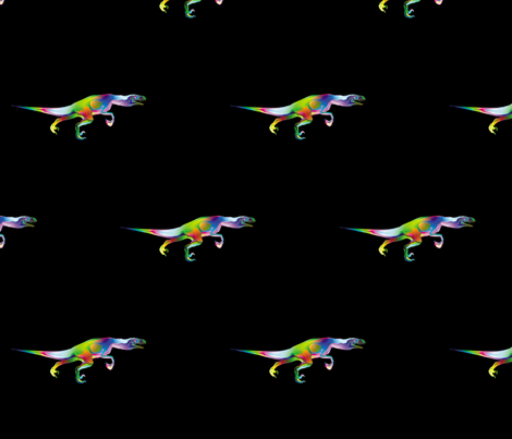 Psychedelic Raptor 2, M fabric by animotaxis on Spoonflower - custom fabric