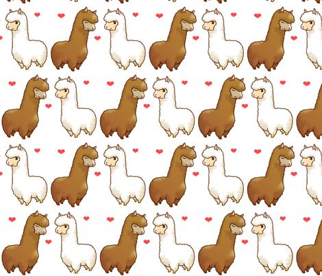Alpaca Amour fabric by sp4klefish on Spoonflower - custom fabric