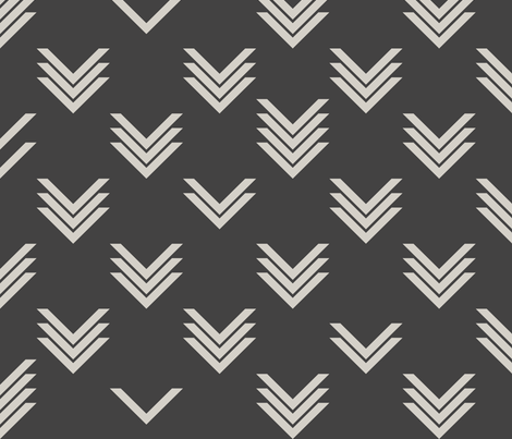 Varied Chevron Reverse fabric by candyjoyce on Spoonflower - custom fabric