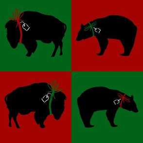 Big Black Bear and Buffalo Squares