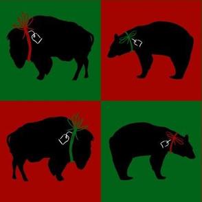 Big Bear and Buffalo Squares