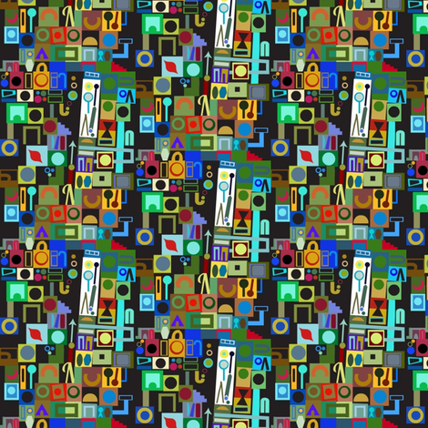 Tiny Geometry Jumble fabric by boris_thumbkin on Spoonflower - custom fabric